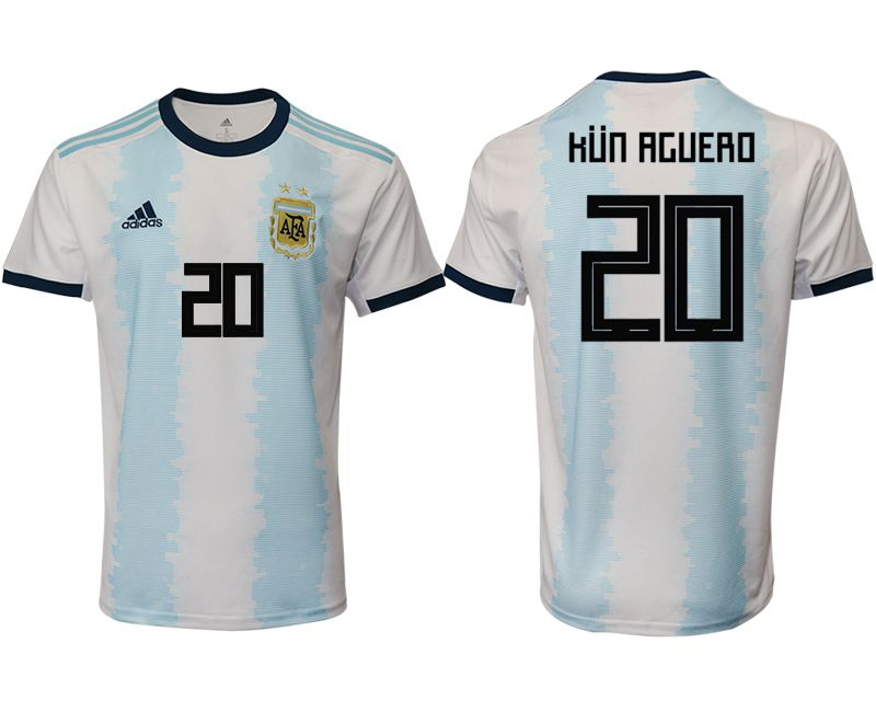 Men 2019-2020 Season National Team Argentina home aaa version 20 blue Soccer Jerseys