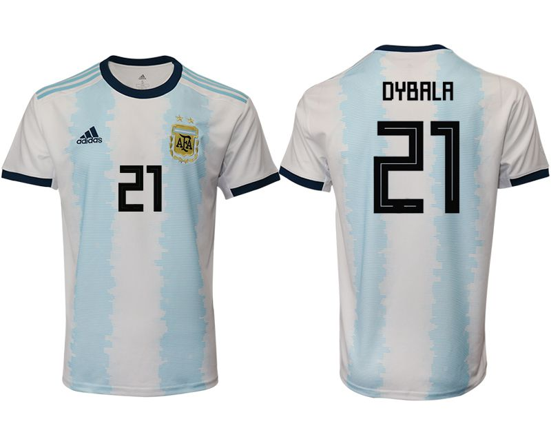 Men 2019-2020 Season National Team Argentina home aaa version 21 blue Soccer Jerseys