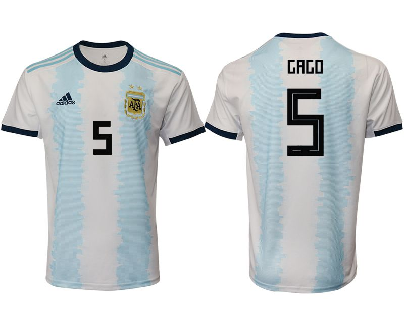 Men 2019-2020 Season National Team Argentina home aaa version 5 blue Soccer Jerseys