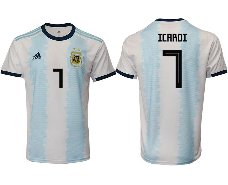 Men 2019-2020 Season National Team Argentina home aaa version 7 blue Soccer Jerseys