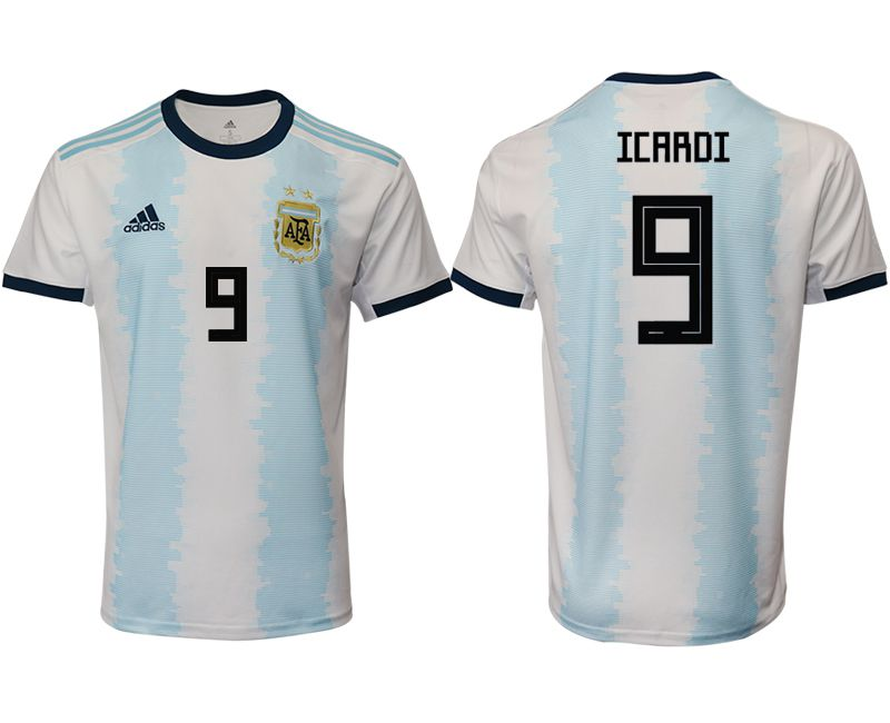 Men 2019-2020 Season National Team Argentina home aaa version 9 blue Soccer Jerseys