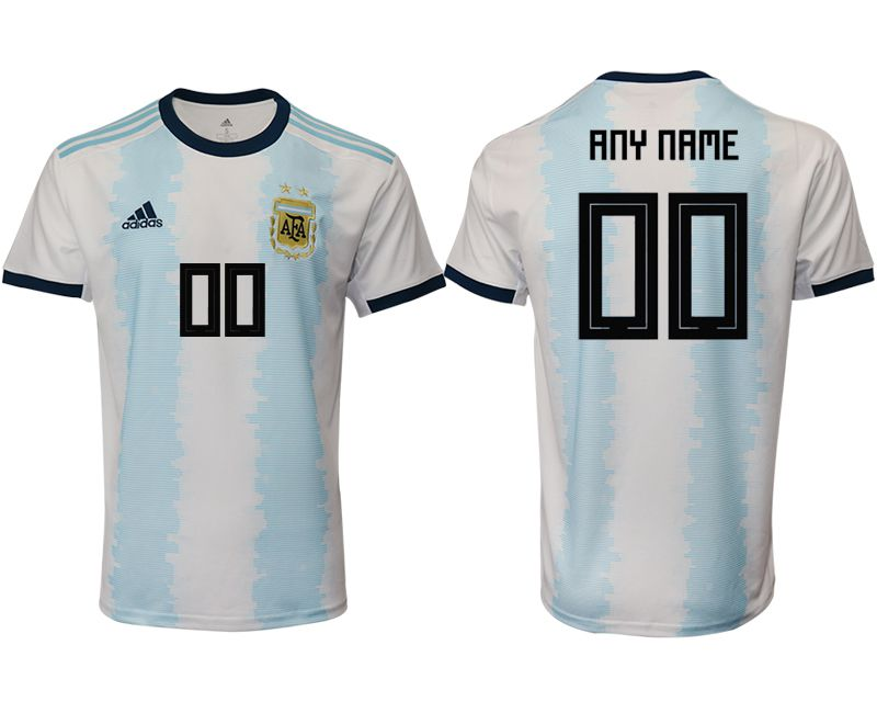 Men 2019-2020 Season National Team Argentina home aaa version customized blue Soccer Jerseys