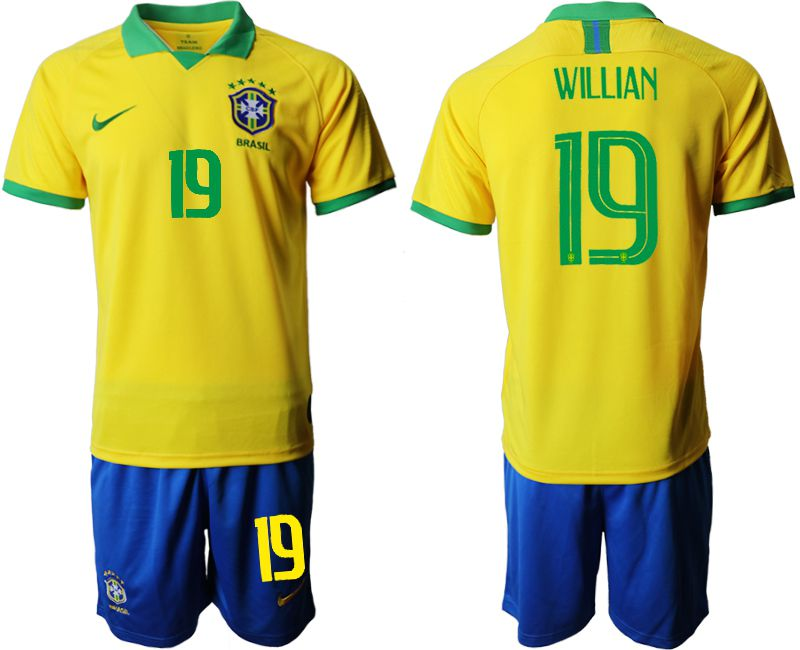 Men 2019-2020 Season National Team Brazil home 19 yellow Soccer Jerseys