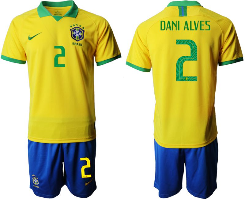 Men 2019-2020 Season National Team Brazil home 2 yellow Soccer Jerseys