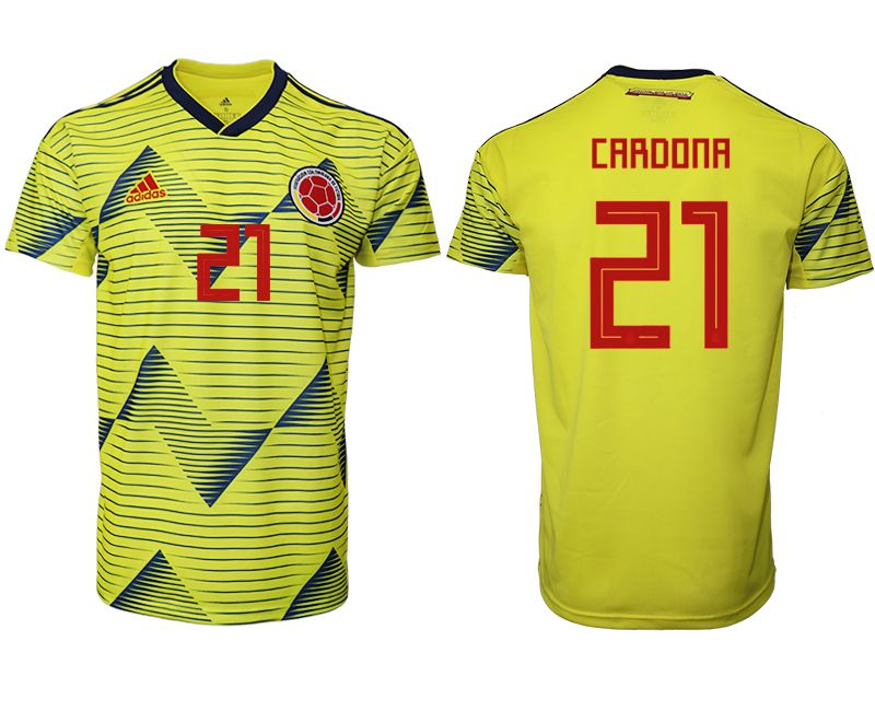 Men 2019-2020 Season National Team Colombia home aaa version 21 yellow Soccer Jerseys