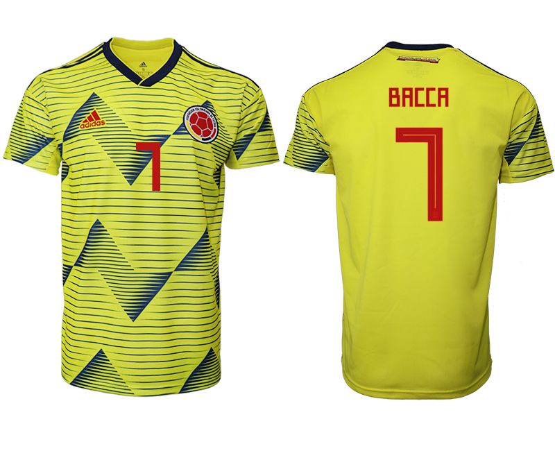 Men 2019-2020 Season National Team Colombia home aaa version 7 yellow Soccer Jerseys