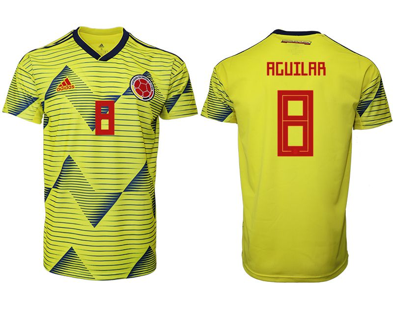 Men 2019-2020 Season National Team Colombia home aaa version 8 yellow Soccer Jerseys