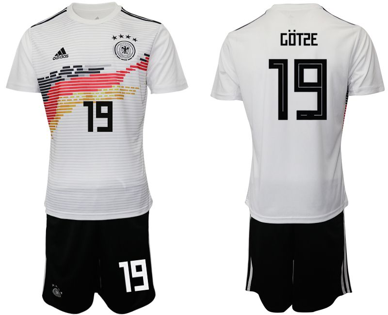 Men 2019-2020 Season National Team Germany home 19 white Soccer Jerseys