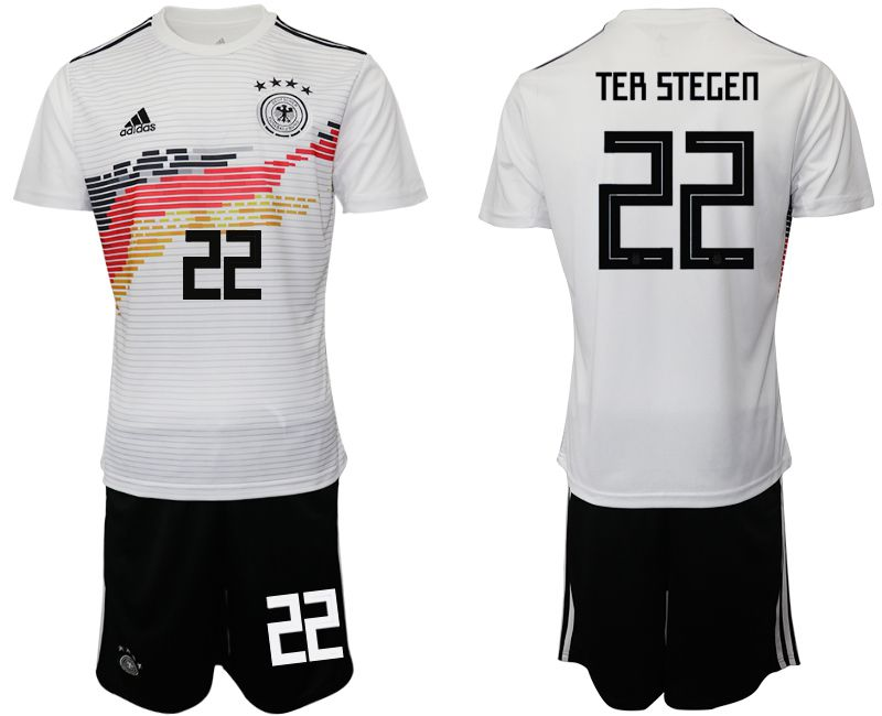 Men 2019-2020 Season National Team Germany home 22 white Soccer Jerseys