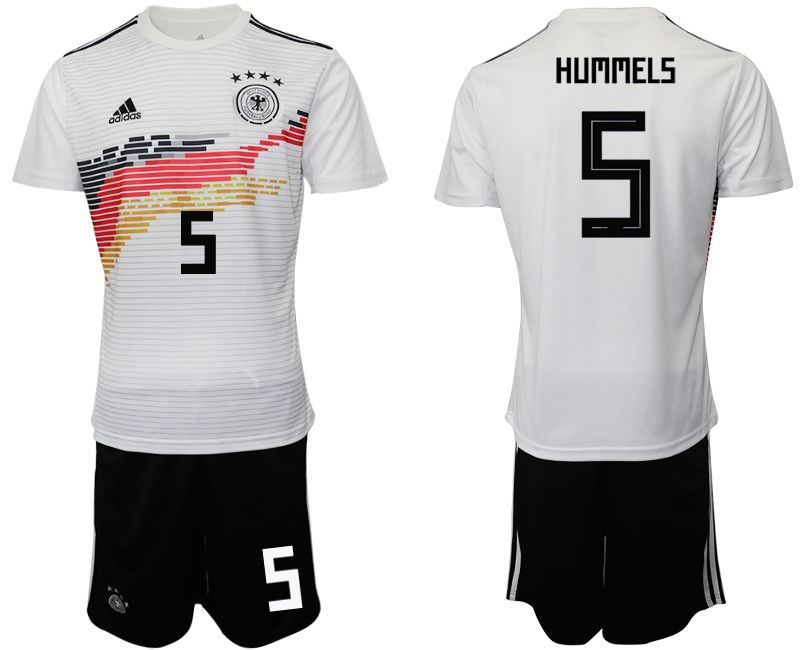 Men 2019-2020 Season National Team Germany home 5 white Soccer Jerseys