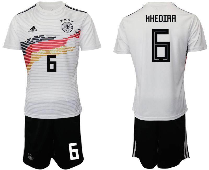 Men 2019-2020 Season National Team Germany home 6 white Soccer Jerseys