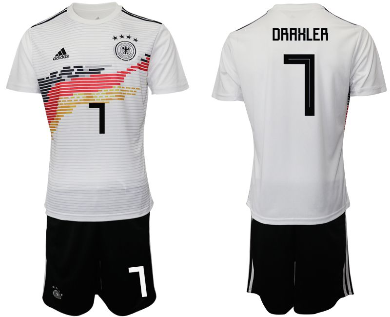Men 2019-2020 Season National Team Germany home 7 white Soccer Jerseys