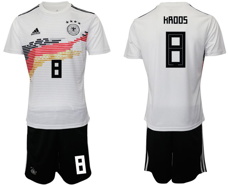 Men 2019-2020 Season National Team Germany home 8 white Soccer Jerseys
