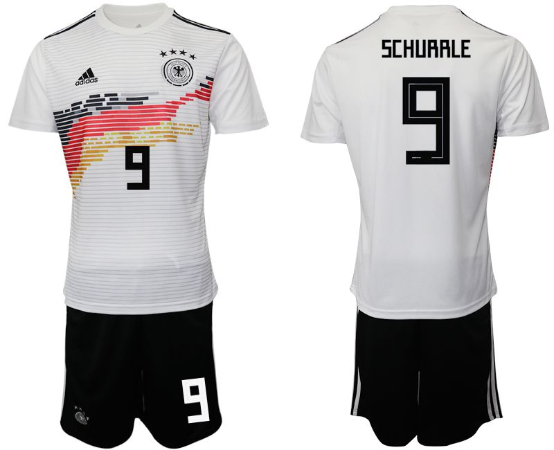 Men 2019-2020 Season National Team Germany home 9 white Soccer Jerseys