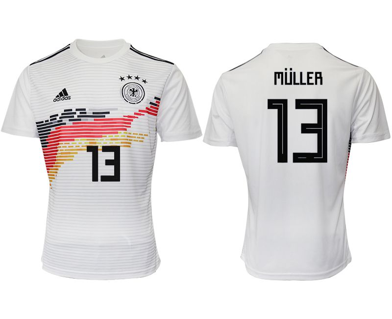 Men 2019-2020 Season National Team Germany home aaa version 13 white Soccer Jerseys