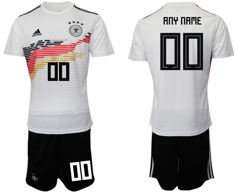 Men 2019-2020 Season National Team Germany home customized white Soccer Jerseys