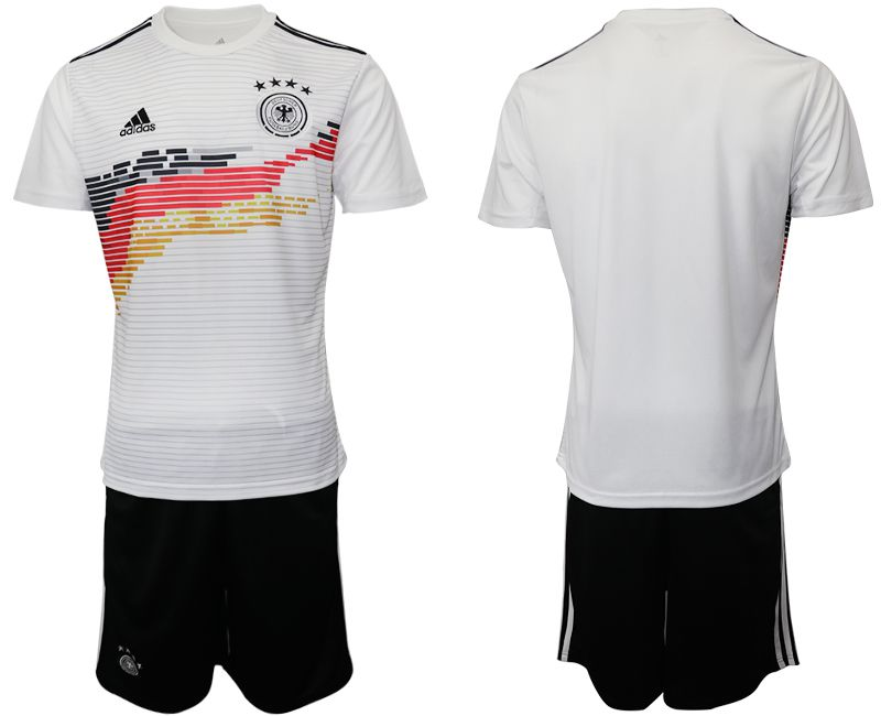 Men 2019-2020 Season National Team Germany home white Soccer Jerseys