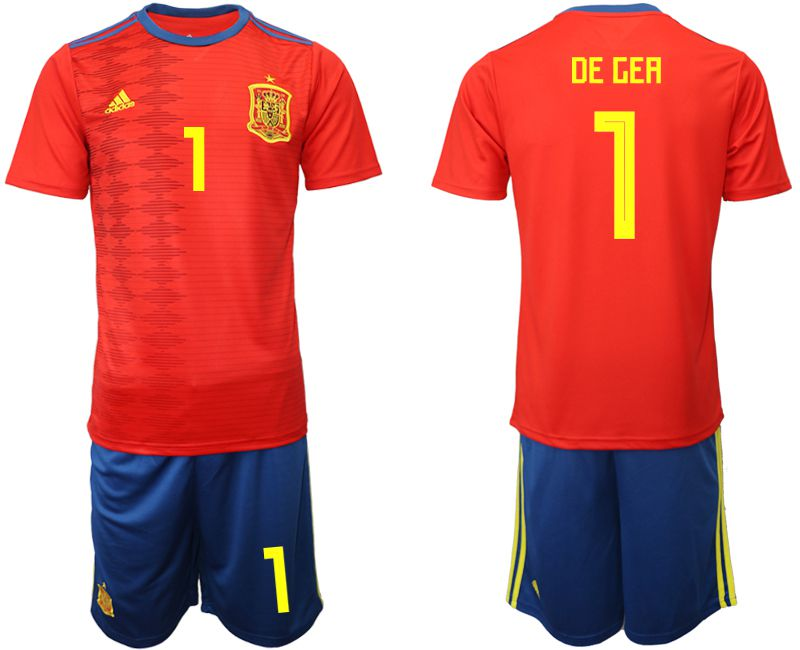 Men 2019-2020 Season National Team Spain home 1 red Soccer Jerseys