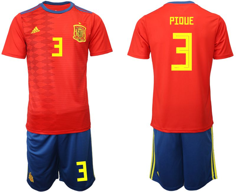 Men 2019-2020 Season National Team Spain home 3 red Soccer Jerseys