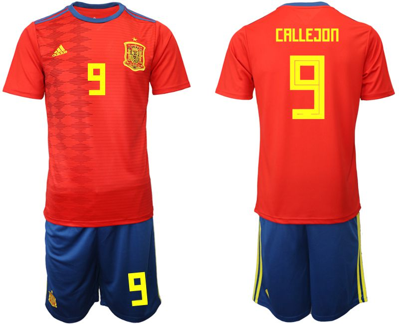 Men 2019-2020 Season National Team Spain home 9 red Soccer Jerseys