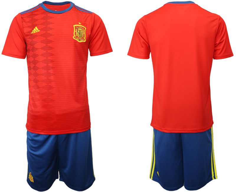 Men 2019-2020 Season National Team Spain home red Soccer Jerseys
