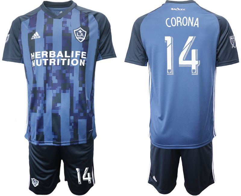Men 2019-2020 club Los Angeles Galaxy away 14 blue Soccer Jerseys