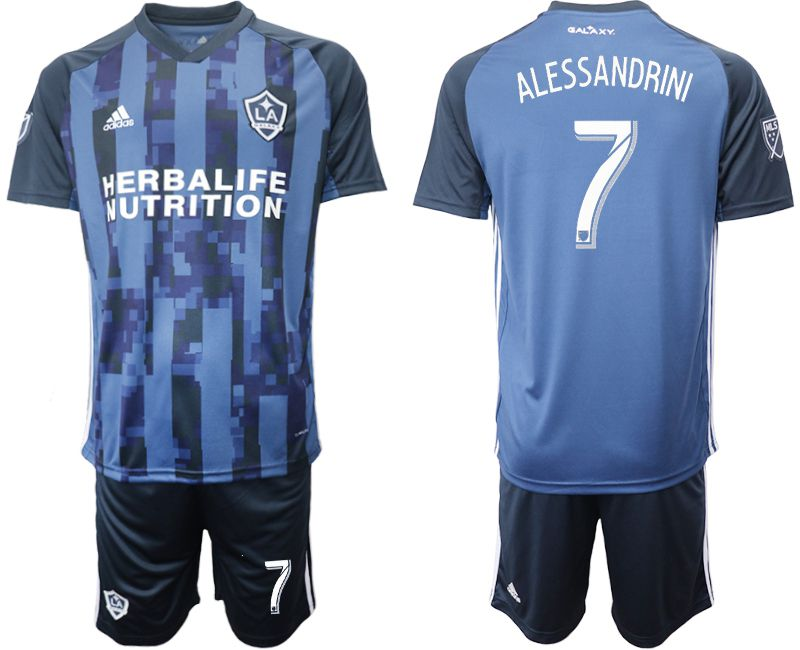 Men 2019-2020 club Los Angeles Galaxy away 7 blue Soccer Jerseys