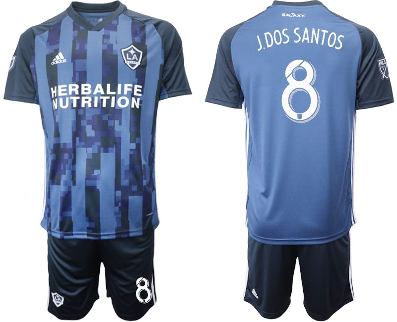 Men 2019-2020 club Los Angeles Galaxy away 8 blue Soccer Jerseys