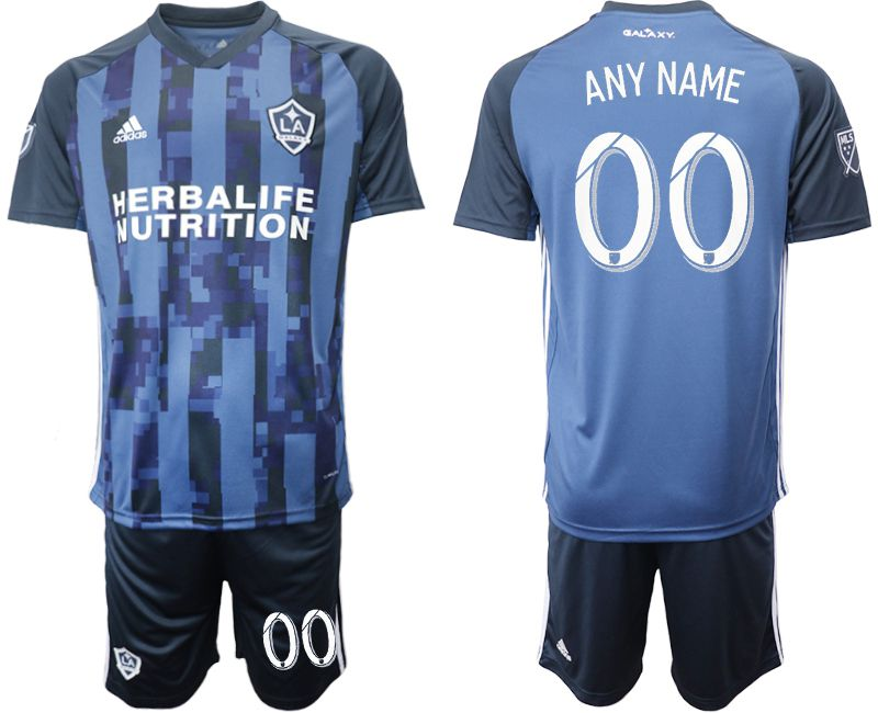 Men 2019-2020 club Los Angeles Galaxy away customized blue Soccer Jerseys