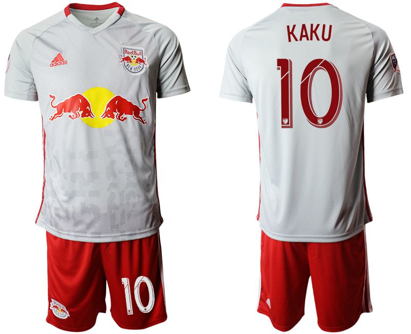 Men 2019-2020 club Red Bulls home 10 white Soccer Jerseys