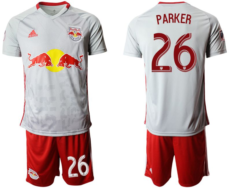 Men 2019-2020 club Red Bulls home 26 white Soccer Jerseys