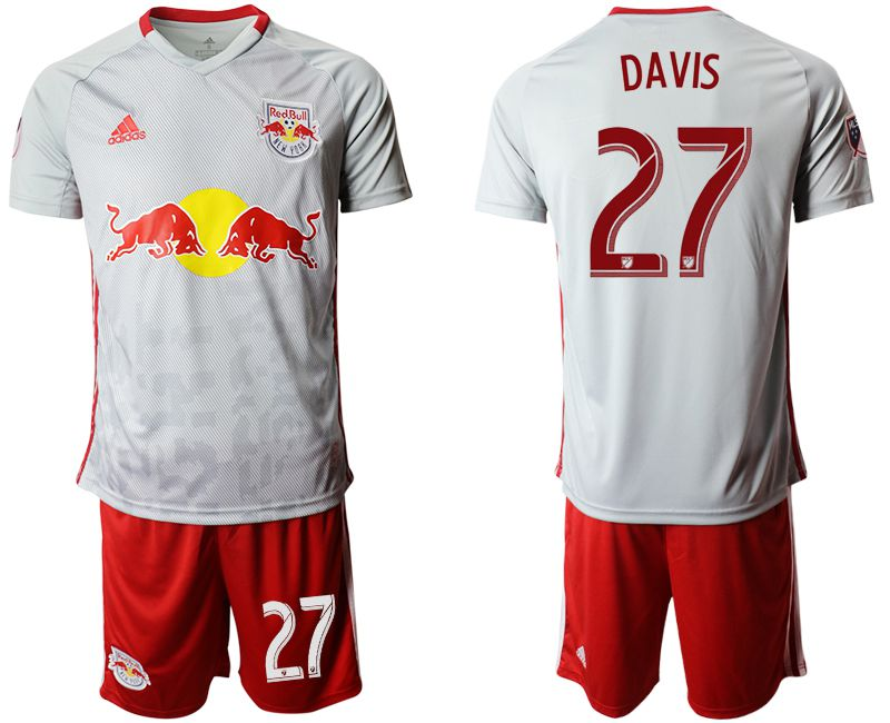 Men 2019-2020 club Red Bulls home 27 white Soccer Jerseys