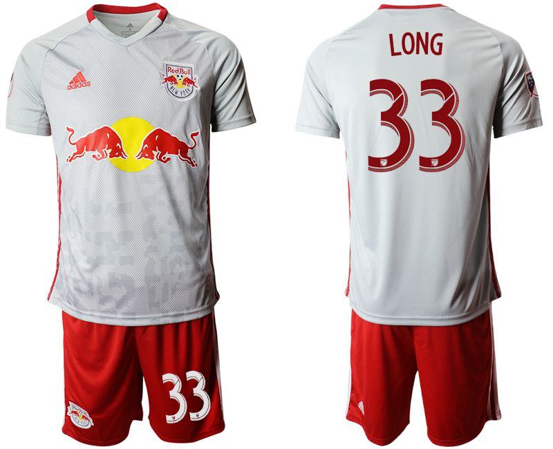 Men 2019-2020 club Red Bulls home 33 white Soccer Jerseys