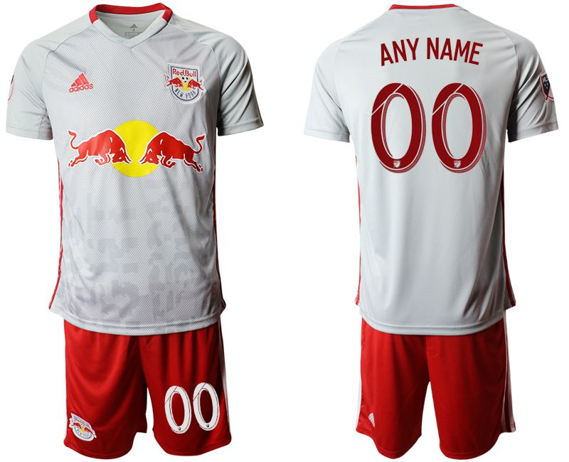 Men 2019-2020 club Red Bulls home customized white Soccer Jerseys
