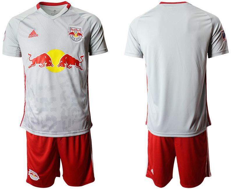 Men 2019-2020 club Red Bulls home white Soccer Jerseys
