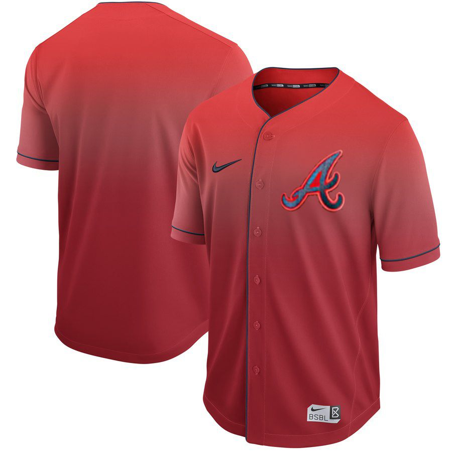 Men Atlanta Braves Blank Red Nike Fade MLB Jersey