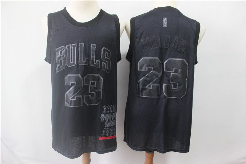 Men Chicago Bulls 23 Jordan Black MVP Honorary Edition NBA Jerseys