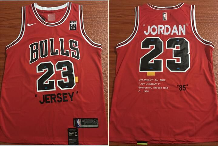 Men Chicago Bulls 23 Jordan Red 85 Commemorative NBA Jersey