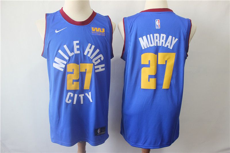 Men Denver Nuggets 27 Murray Blue Game Nike NBA Jerseys