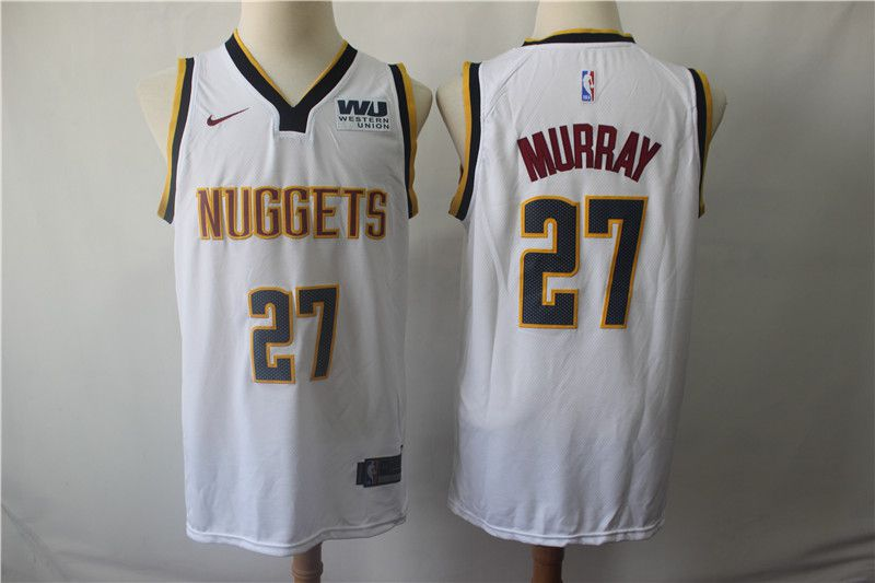 Men Denver Nuggets 27 Murray White Game Nike NBA Jerseys