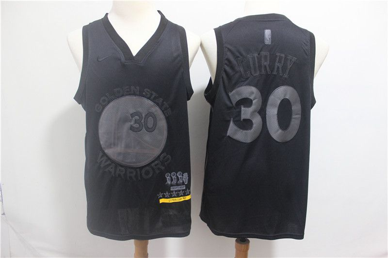 Men Golden State Warriors 30 Curry Black MVP Honorary Edition NBA Jerseys