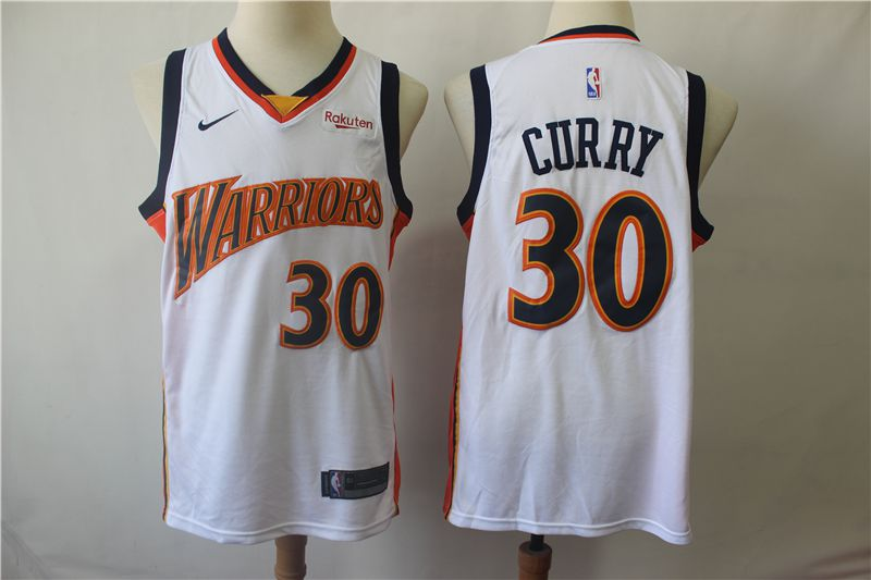 Men Golden State Warriors 30 Curry White Nike Game NBA Jerseys