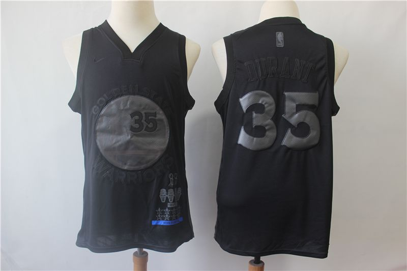 Men Golden State Warriors 35 Durant Black MVP Honorary Edition NBA Jerseys