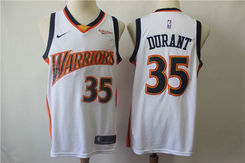Men Golden State Warriors 35 Durant White Nike Game NBA Jerseys