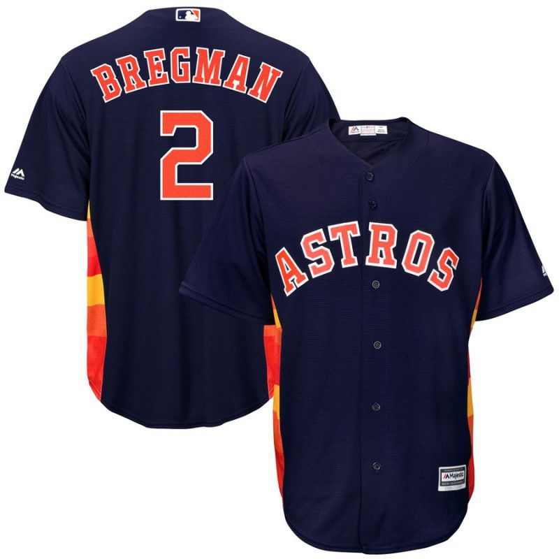Men Houston Astros 2 Bregman Blue Game MLB Jersey