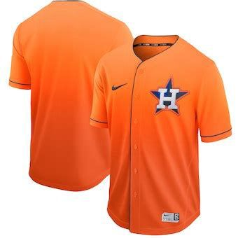 Men Houston Astros Blank Orange Nike Fade MLB Jersey
