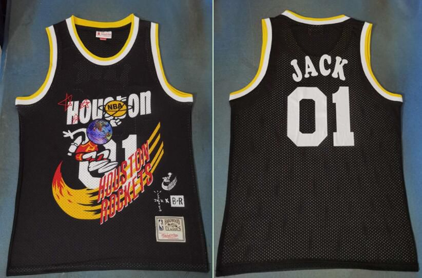 Men Houston Rockets 01 Jack Black Joint NBA Jersey