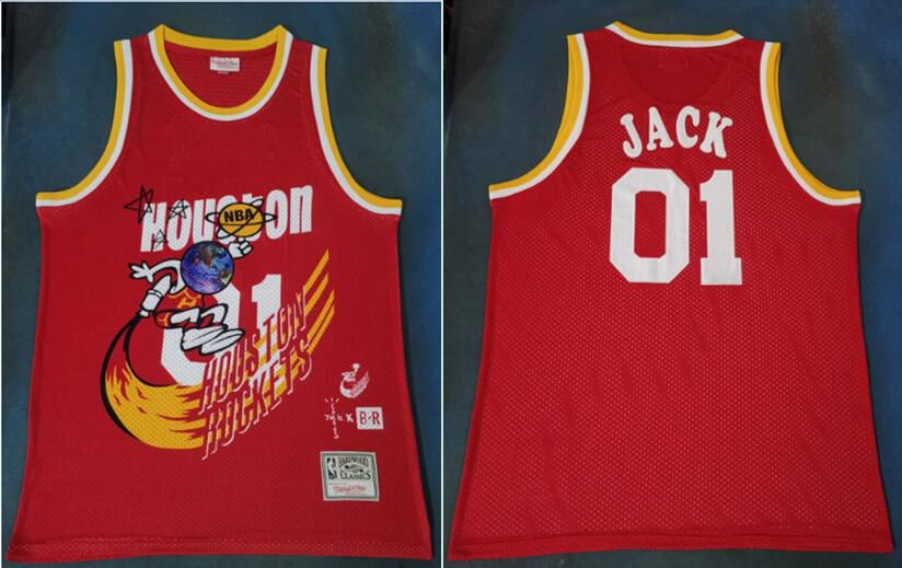 Men Houston Rockets 01 Jack Red Joint NBA Jersey