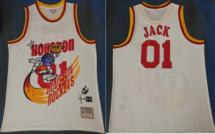 Men Houston Rockets 01 Jack White Joint NBA Jersey