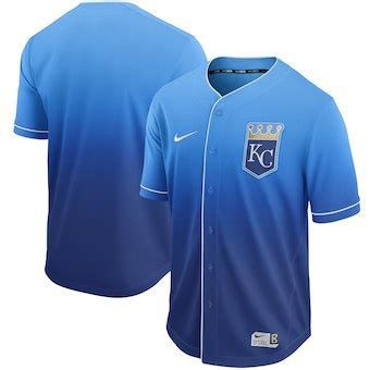 Men Kansas City Royals Blank Blue Nike Fade MLB Jersey